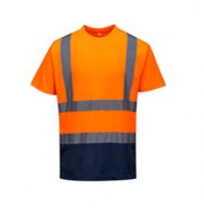 T-shirt bicolore orange / marine PORTWEST